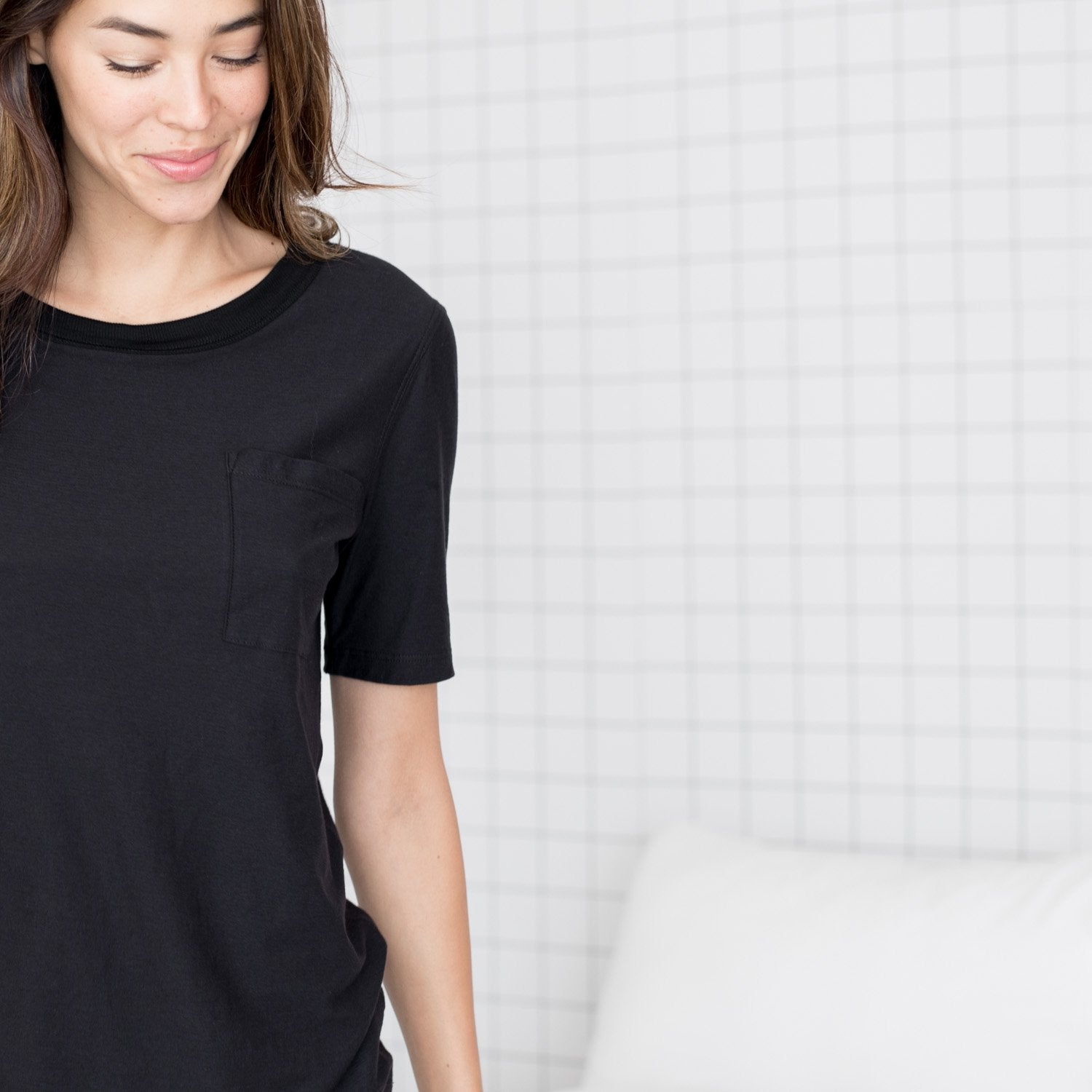 Lunya Sleepwear Cool Short Sleeve Tee - #Black