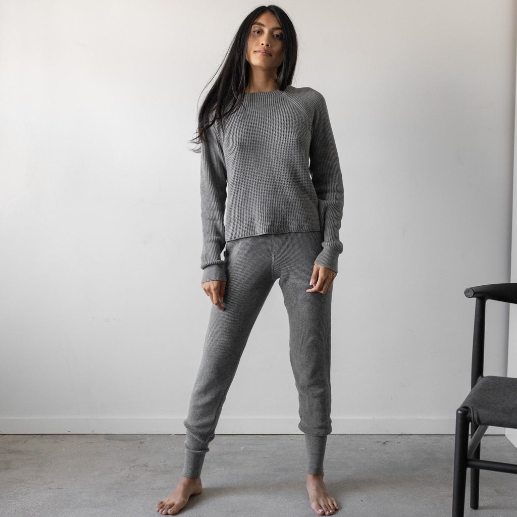 Lunya Sleepwear Cozy Pima Alpaca Jogger - #Heather Grey