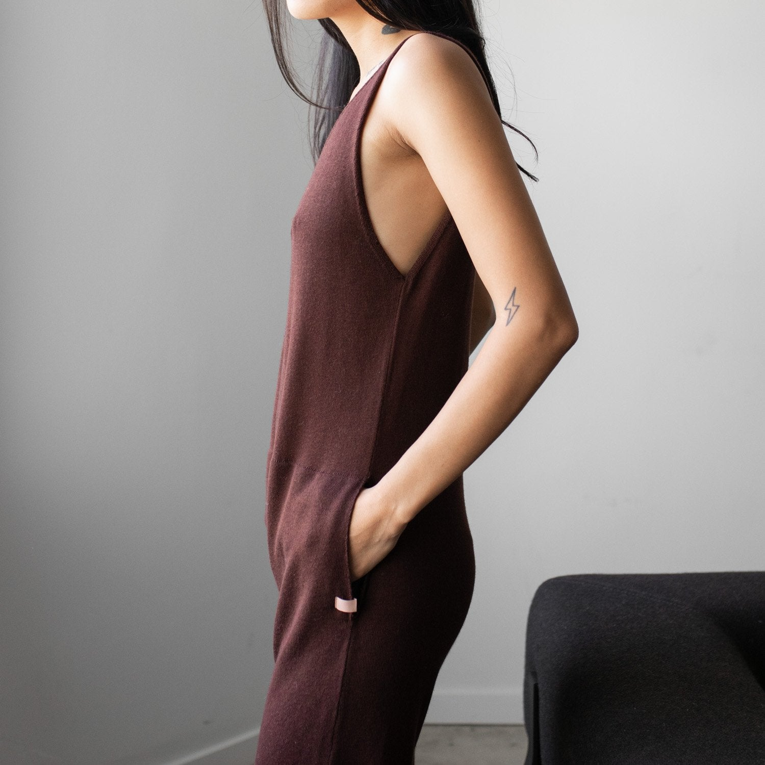 Lunya Sleepwear Cozy Pima Alpaca Jumpsuit - #Heather Port