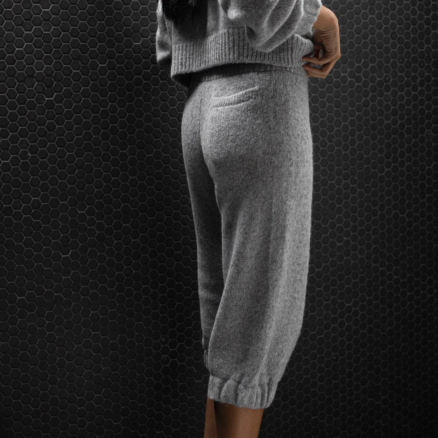 Lunya Sleepwear Cozy Alpaca Knit Pant - #Heather Grey