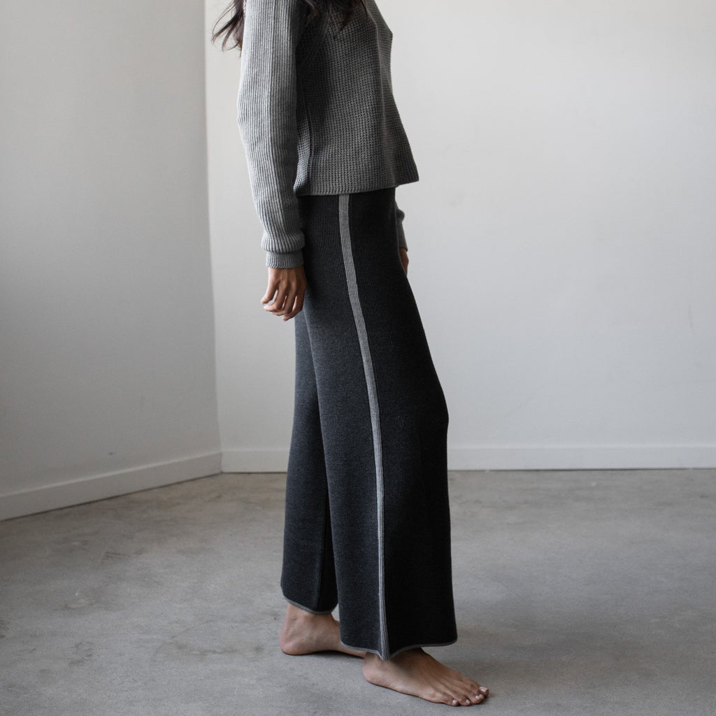 Lunya Sleepwear Cozy Pima Alpaca Pant - #Heather Charcoal/Heather Grey