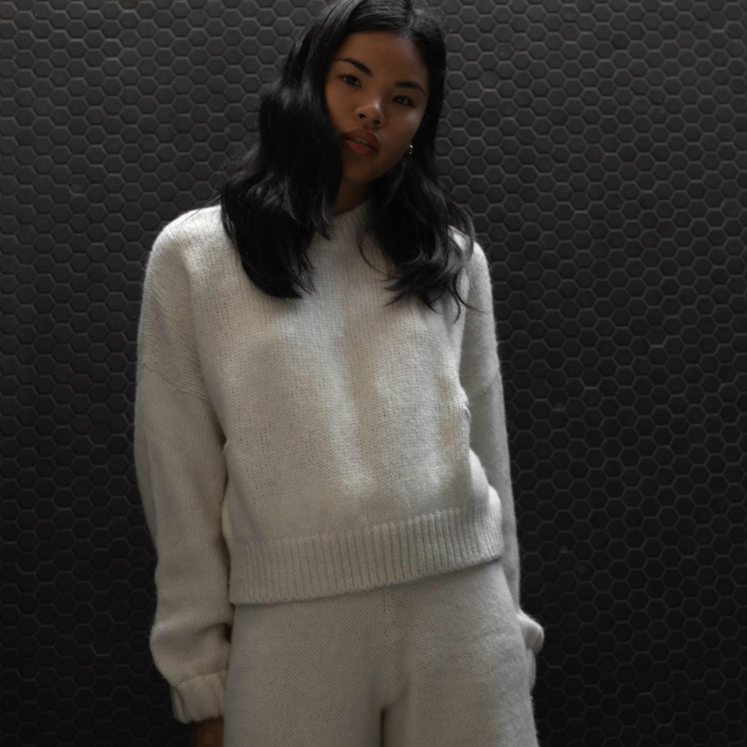 Lunya Sleepwear Cozy Alpaca Knit Pullover - #Powder