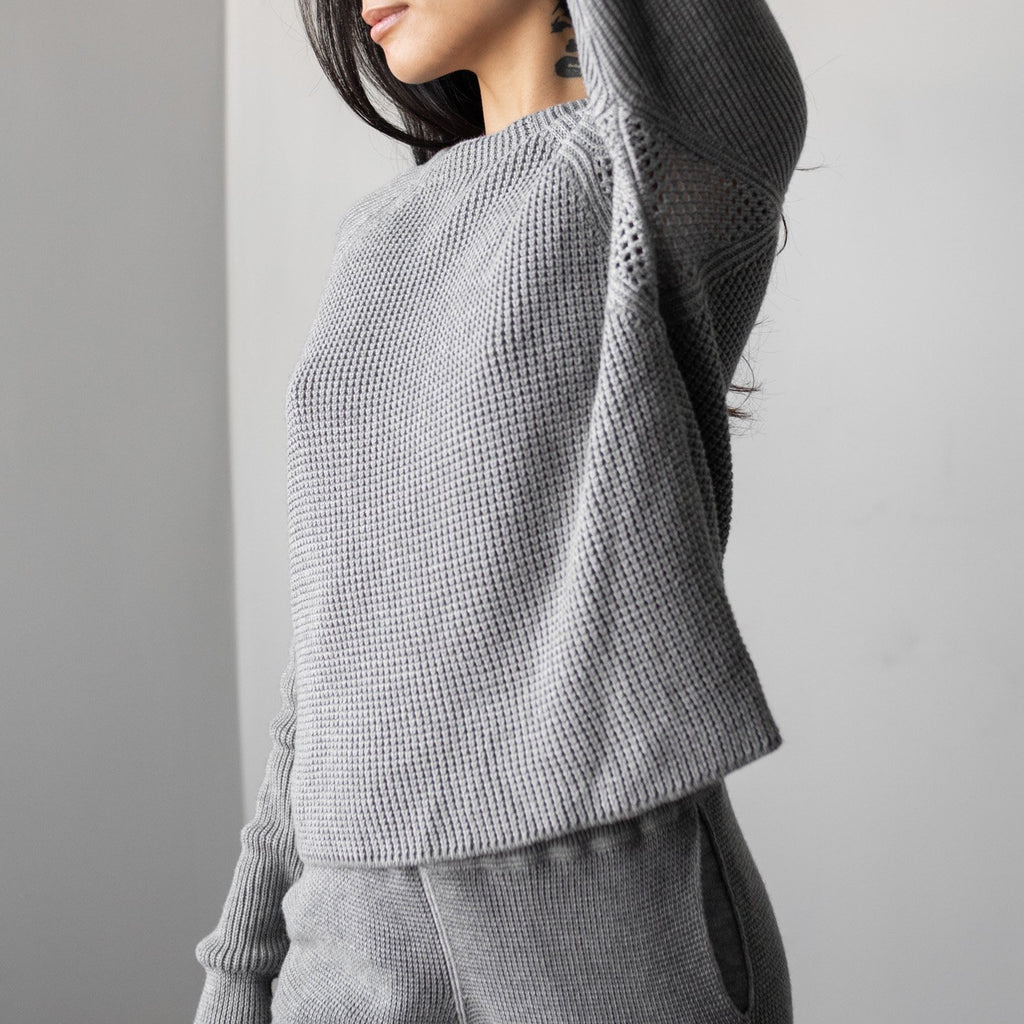 Lunya Sleepwear Cozy Pima Alpaca Pullover - #Heather Grey