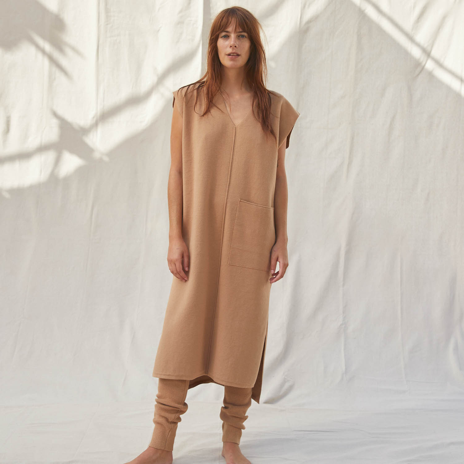 Lunya Sleepwear Cozy Cotton Silk Dress - #Ginger