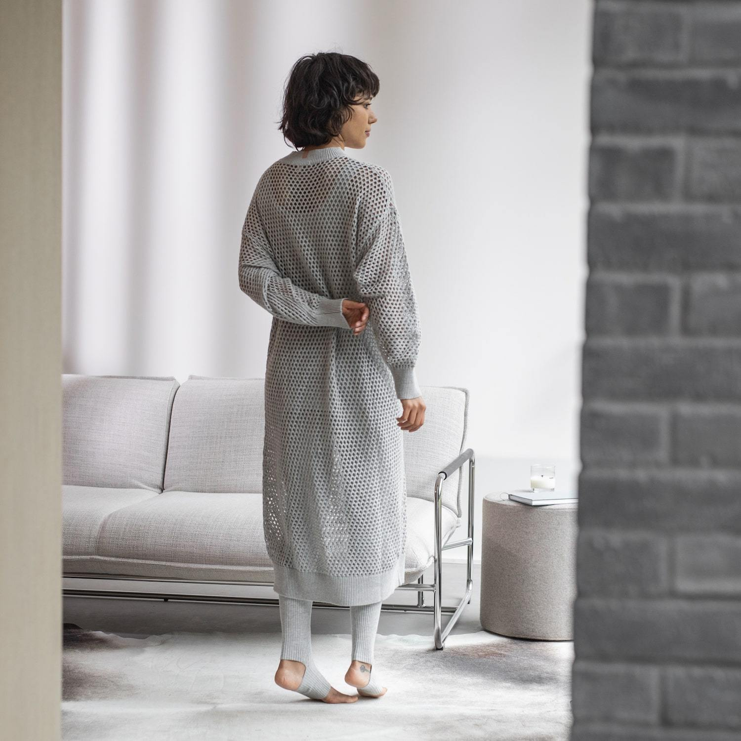 Lunya Sleepwear Cozy Cotton Silk Overlay Dress - #Chroma