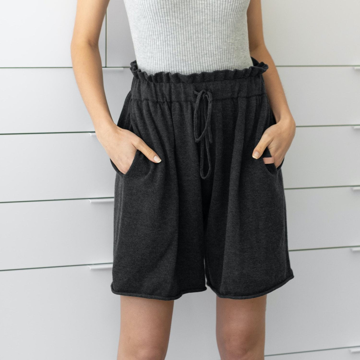 Lunya Sleepwear Cozy Cotton Silk Relaxed Short - #Onyx