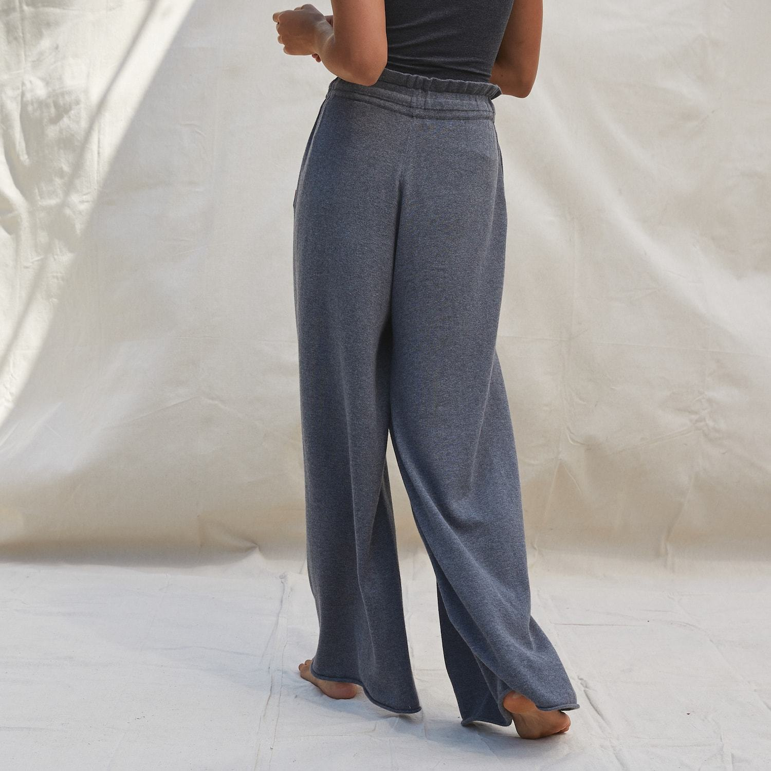 Lunya Sleepwear Cozy Cotton Silk Relaxed Pant - #Shadow