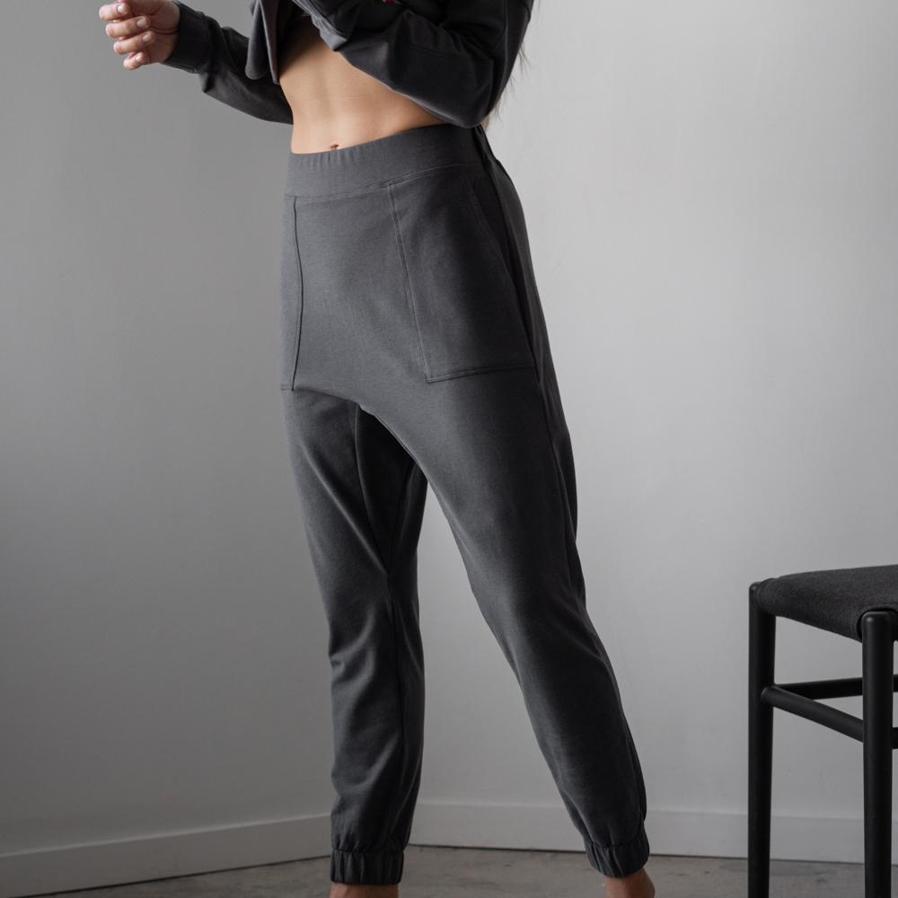 Lunya Sleepwear Cozy Pima Alpaca Fleece Jogger - #Eclipse