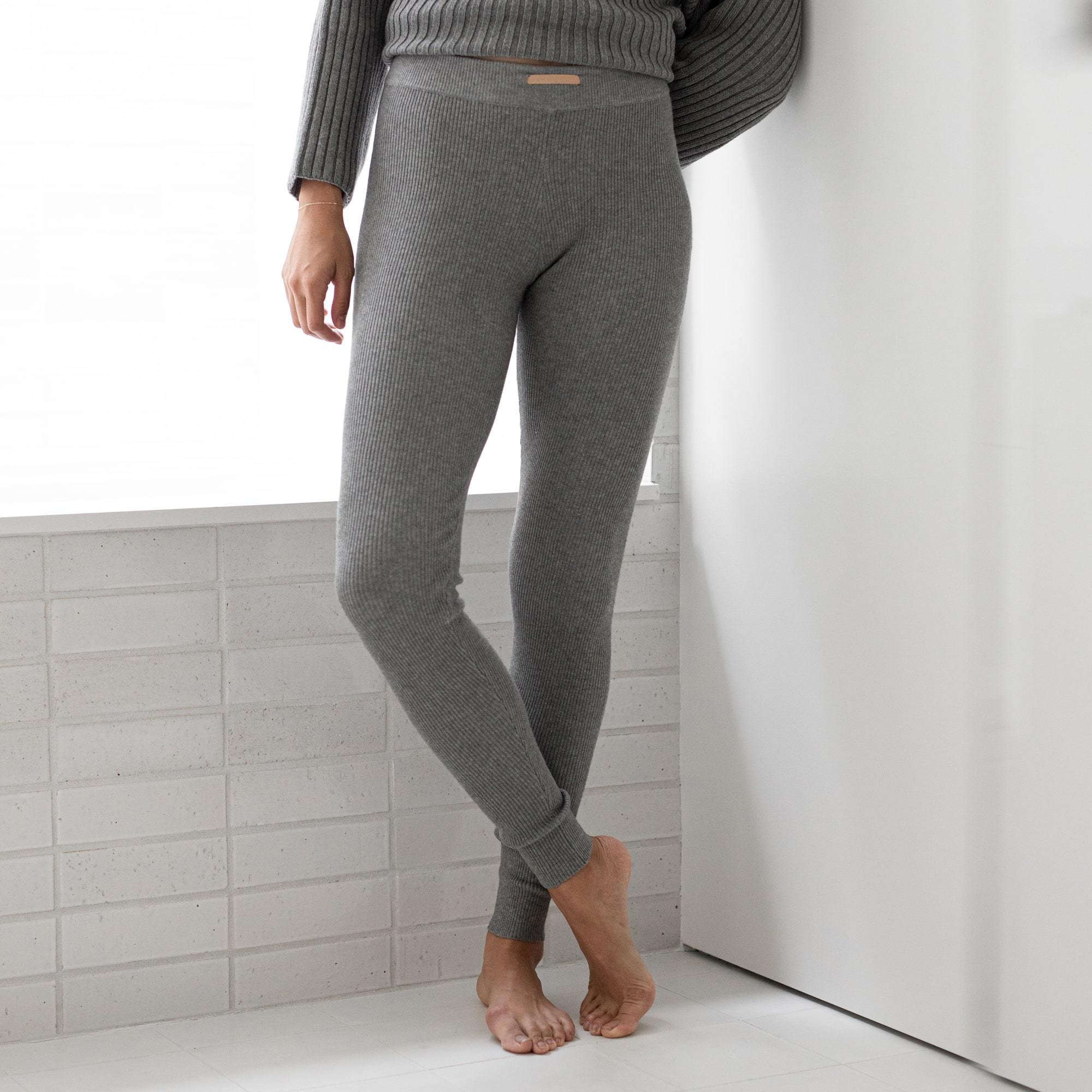 Lunya Sleepwear Cozy Pima Alpaca Ribbed Legging - #Heather Grey