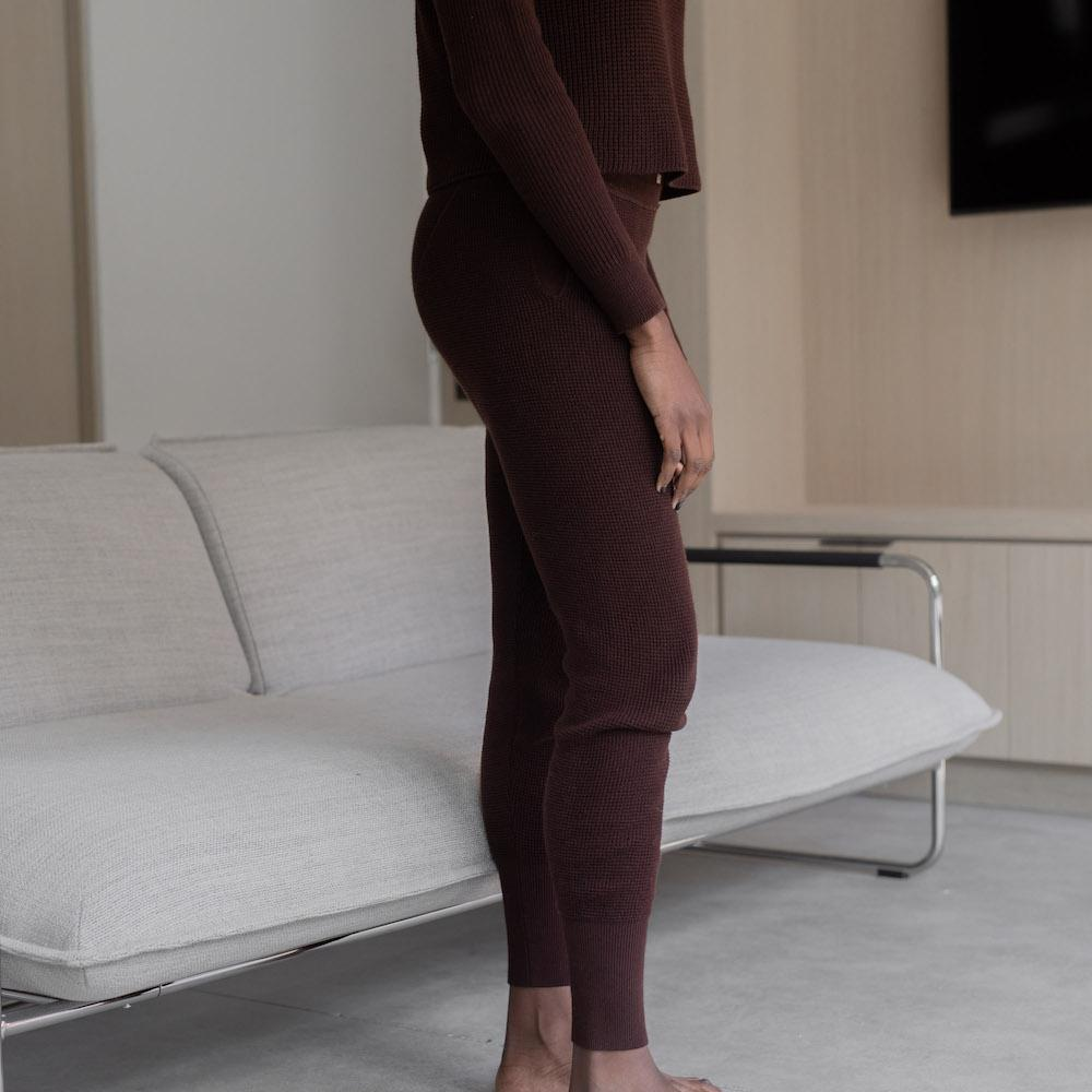 Lunya Sleepwear Cozy Pima Alpaca Jogger - #Heather Port