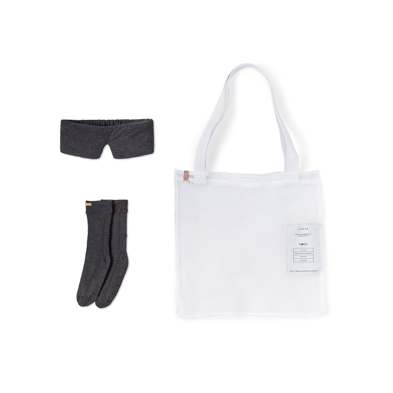 Lunya Sleepwear Restore Mini Travel Kit - #Charcoal