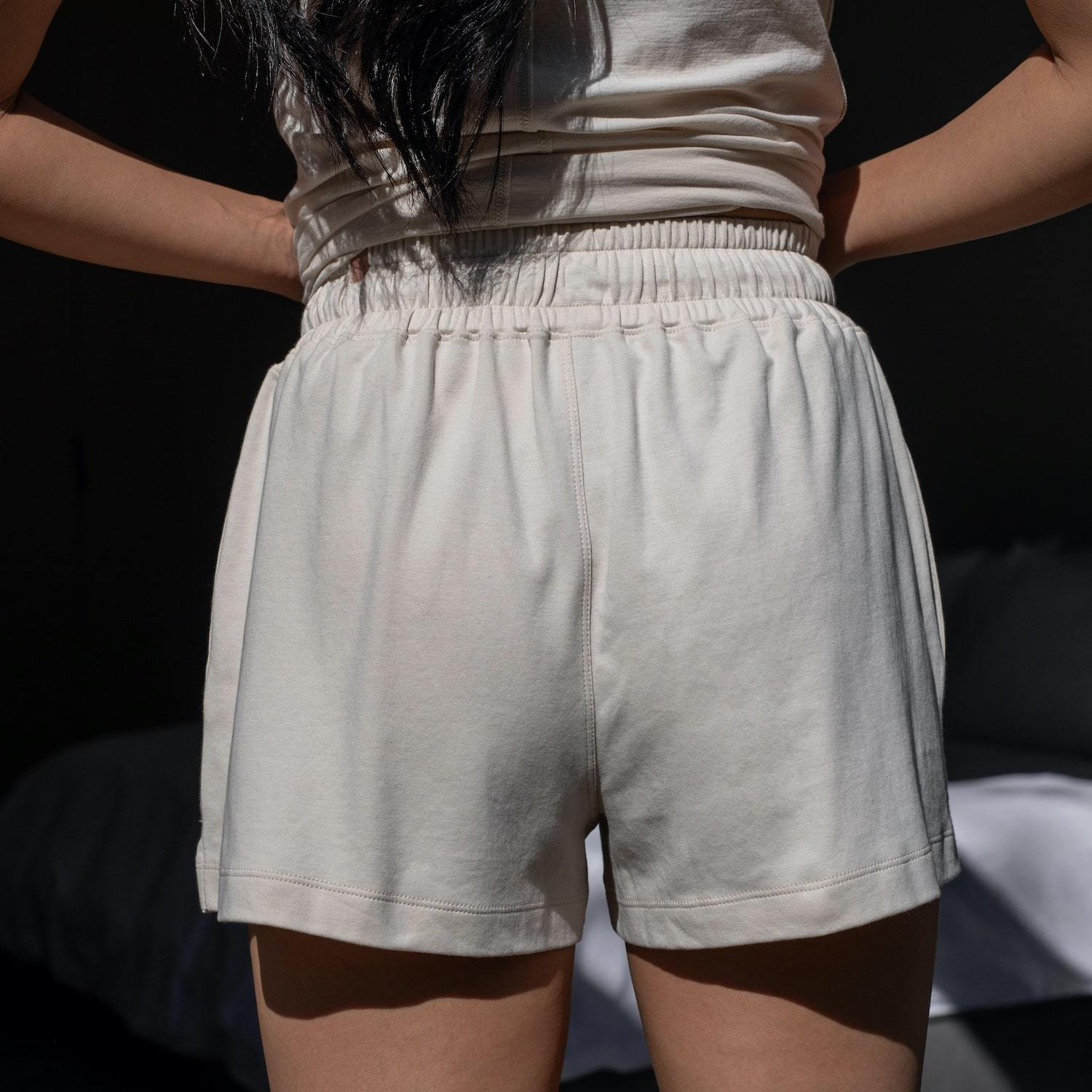 Lunya Sleepwear Organic Pima High Rise Short - #Latte