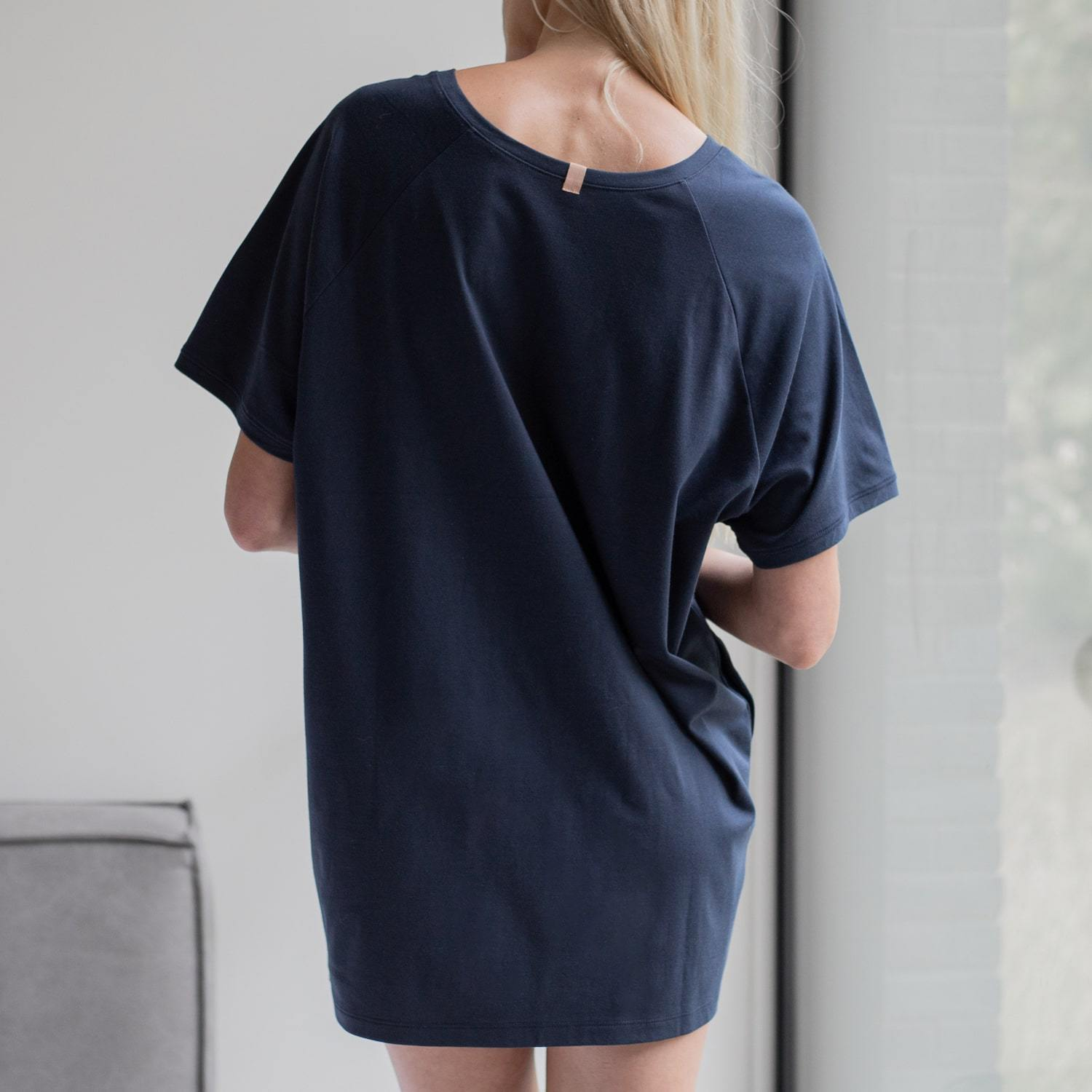 Lunya Sleepwear Organic Pima Dress - #Deep Night