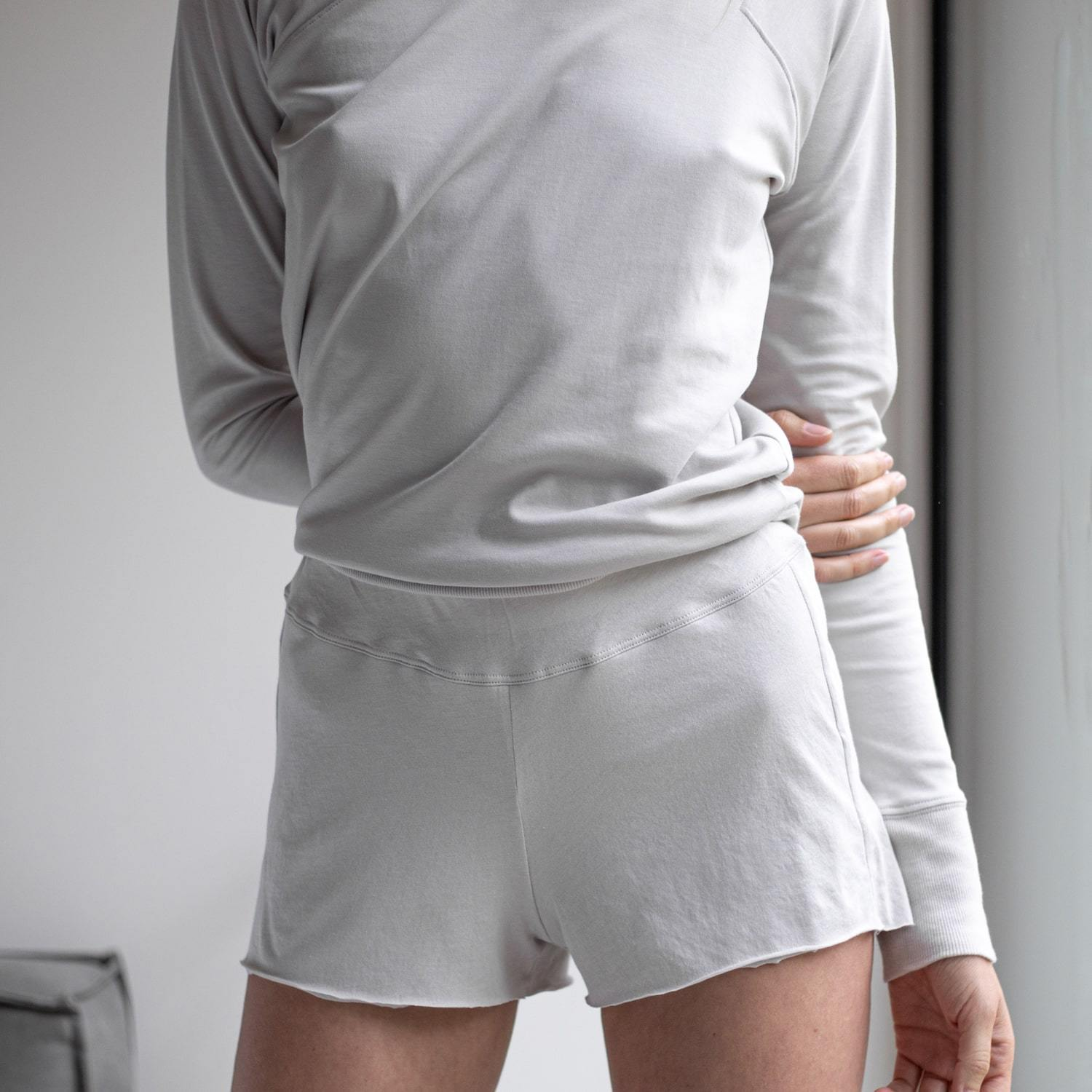 Lunya Sleepwear Organic Pima Short - #Cloud