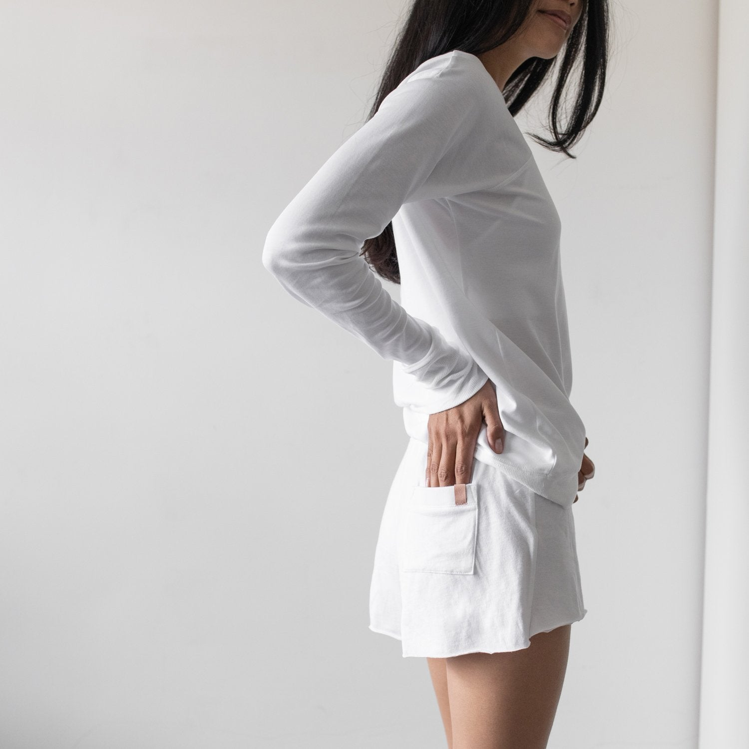 Lunya Sleepwear Pima Short - #White