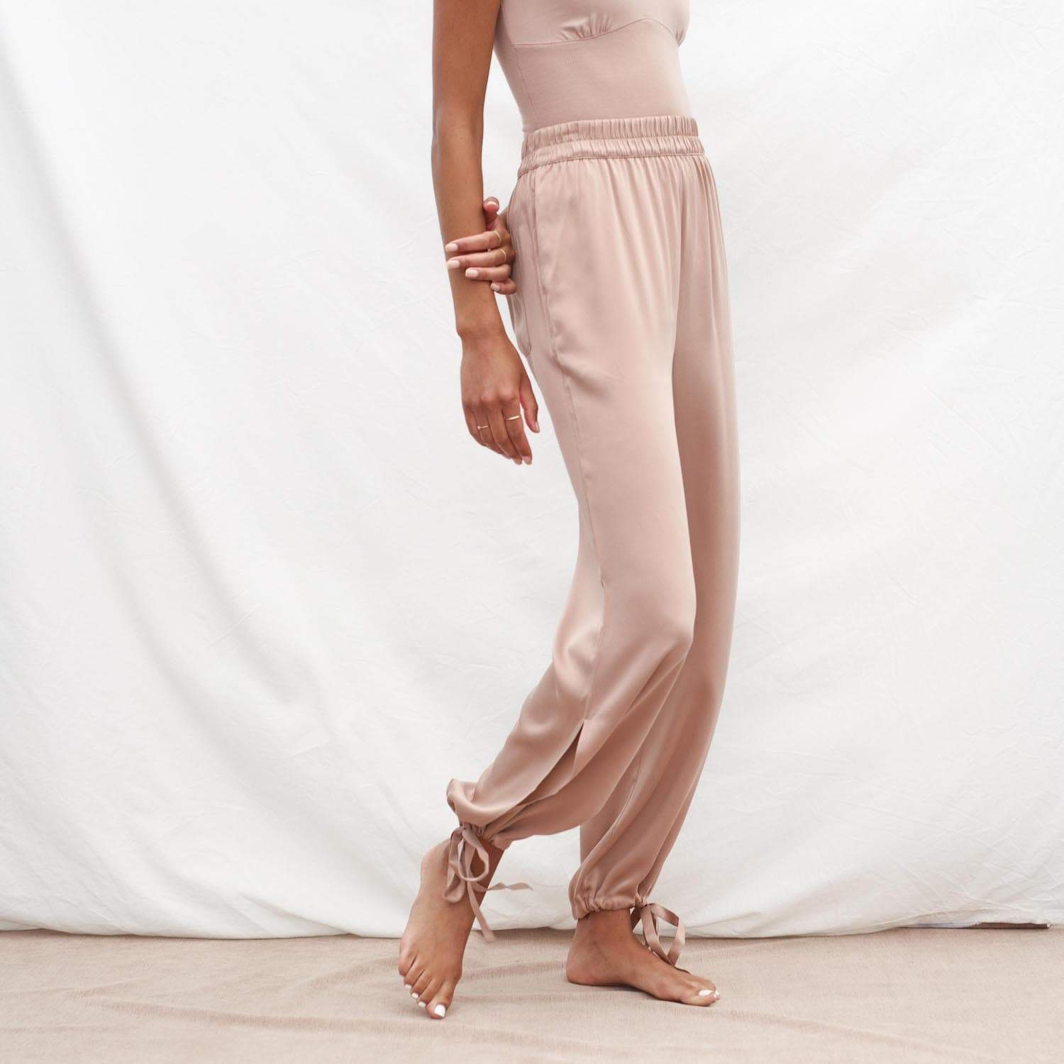 Lunya Sleepwear Prima Washable Silk Pant - #Bare