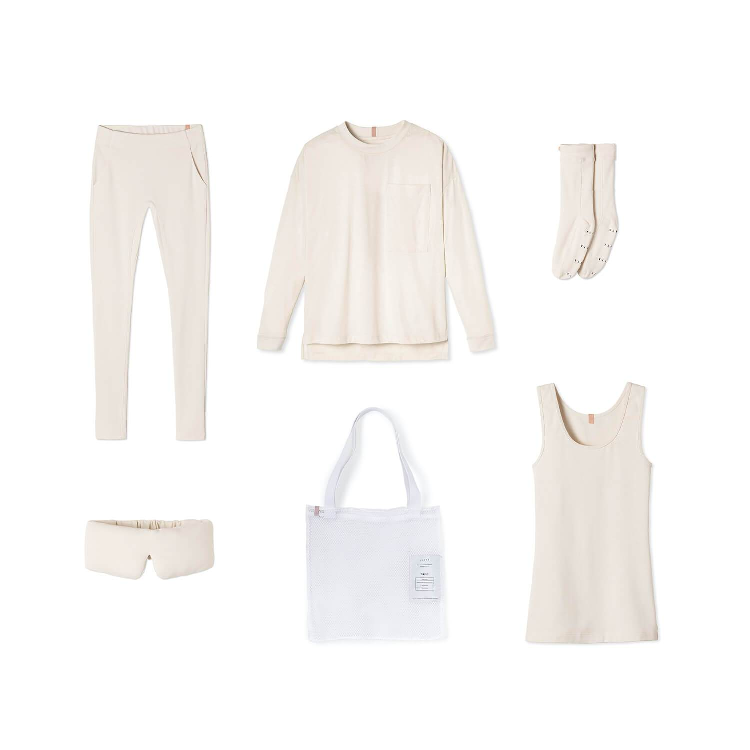 Lunya Sleepwear Restore Pima Travel Kit - #Latte
