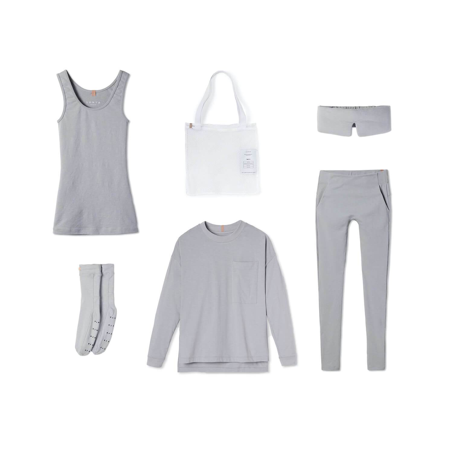 Lunya Sleepwear Restore Pima Travel Kit - #Moonstone