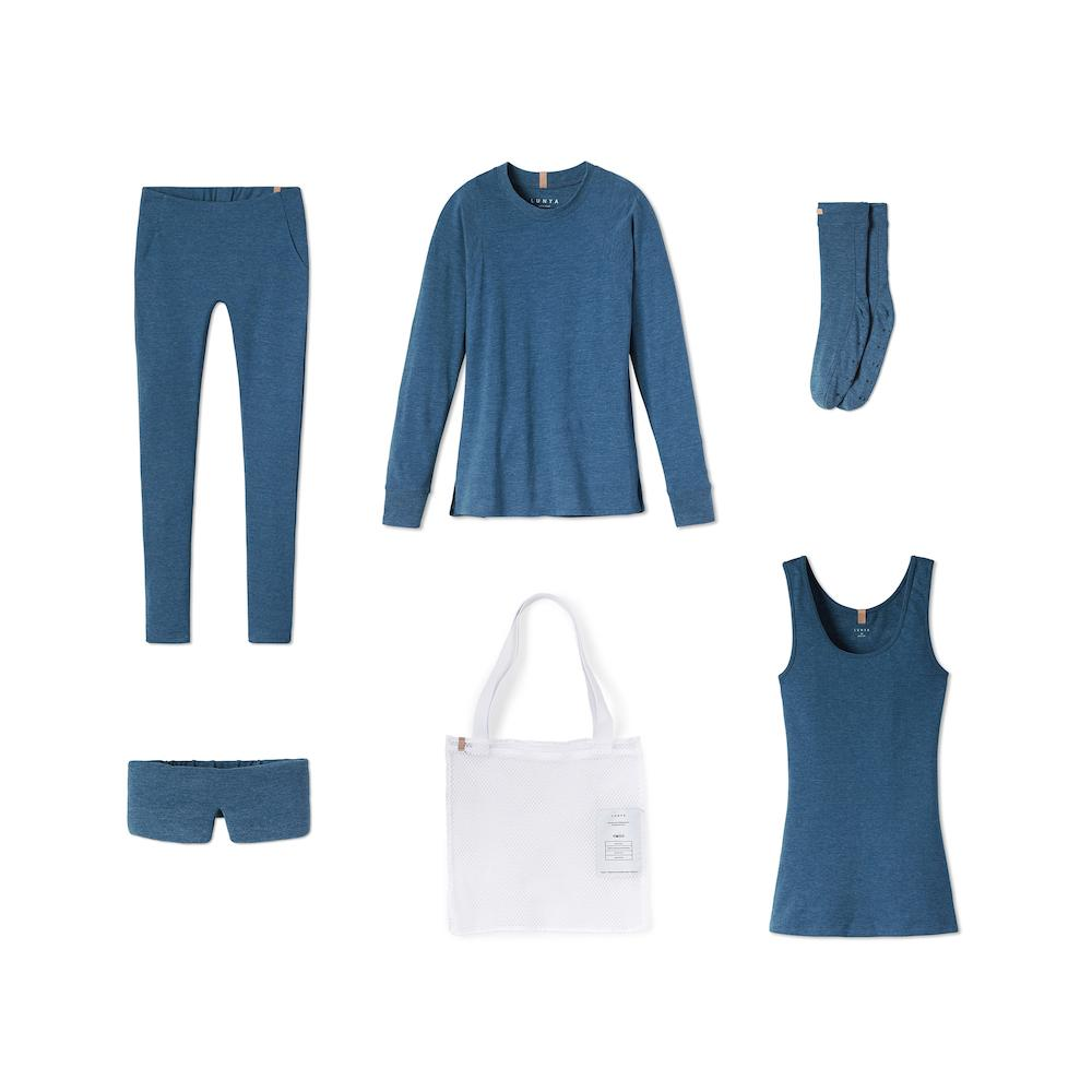 Lunya Sleepwear Restore Pima Travel Kit - #Nova