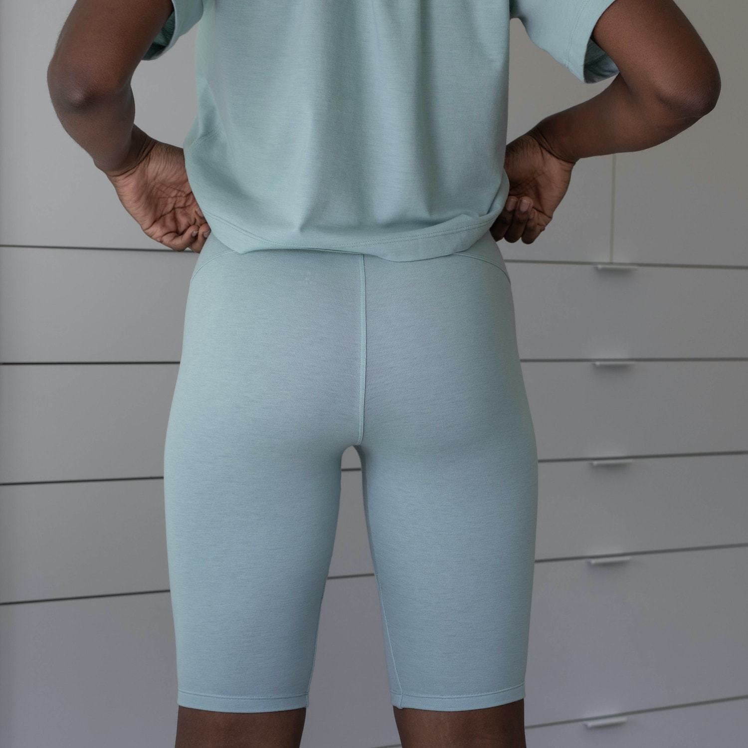 Lunya Sleepwear Restore Bike Short - #Aloe