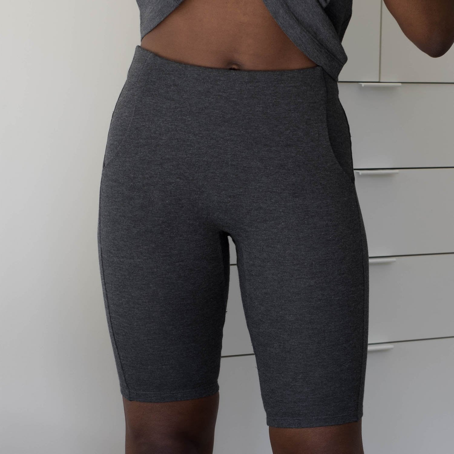 Lunya Sleepwear Restore Bike Short - #Charcoal
