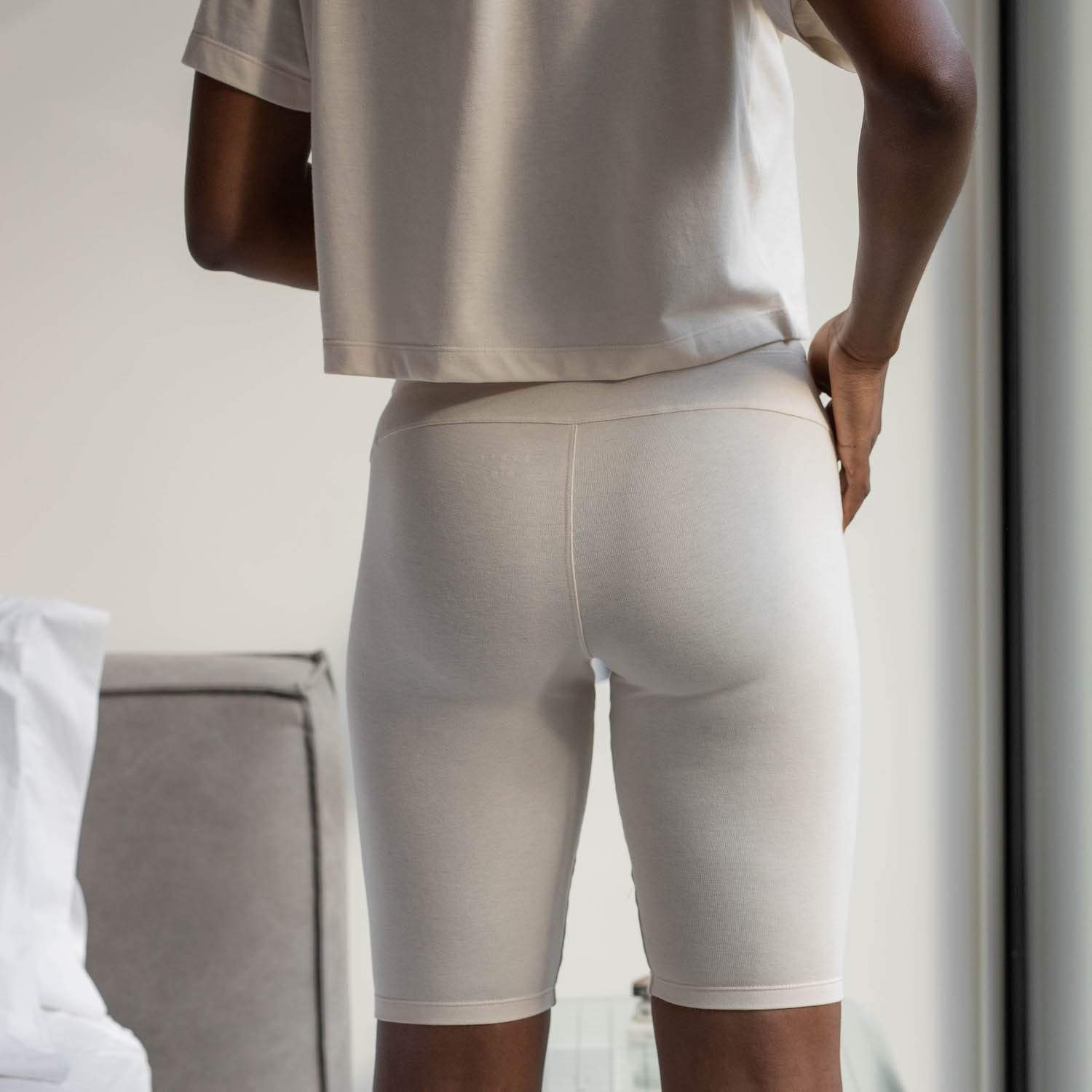Lunya Sleepwear Restore Bike Short - #Latte