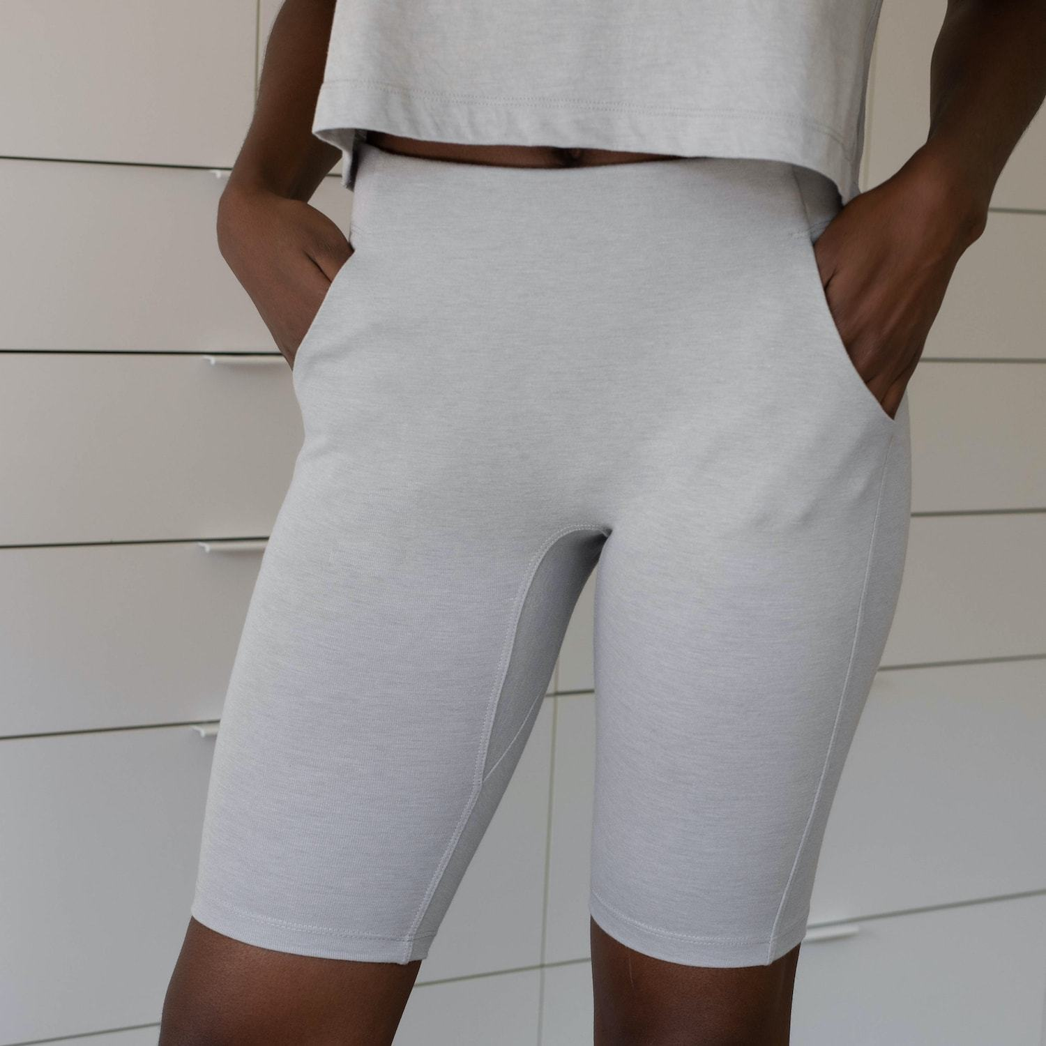 Lunya Sleepwear Restore Bike Short - #Moonstone