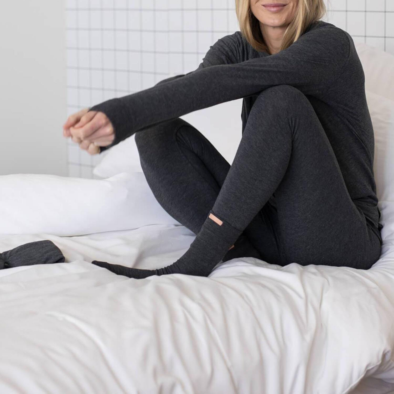 Lunya Sleepwear Restore Pima Travel Kit - #Mercurial Grey Heather