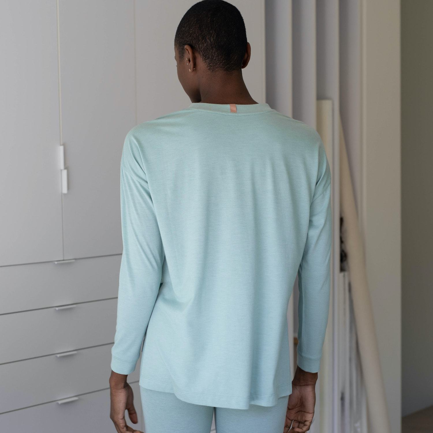Lunya Sleepwear Long Sleeve Tee - #Aloe