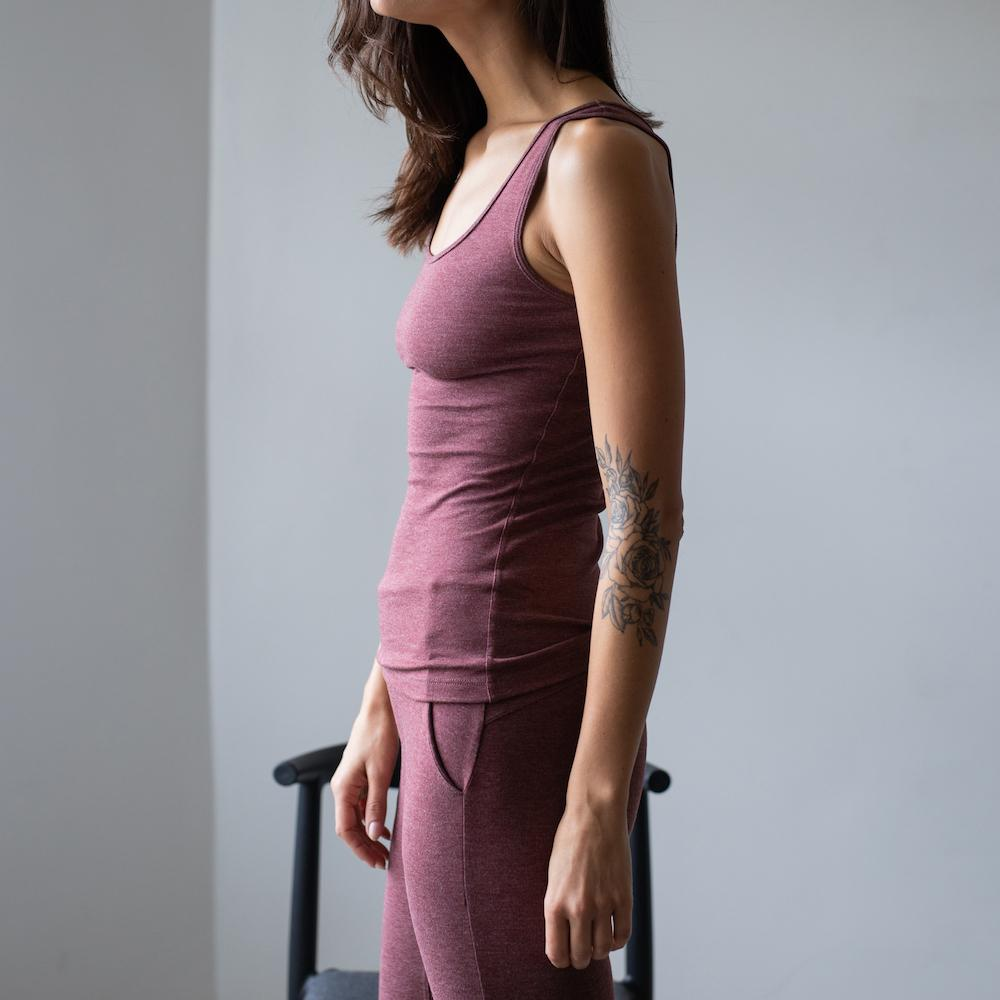 Lunya Sleepwear Restore Pima Base Tank - #Port