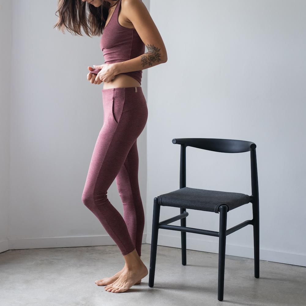 Lunya Sleepwear Restore Pima Pocket Legging - #Port