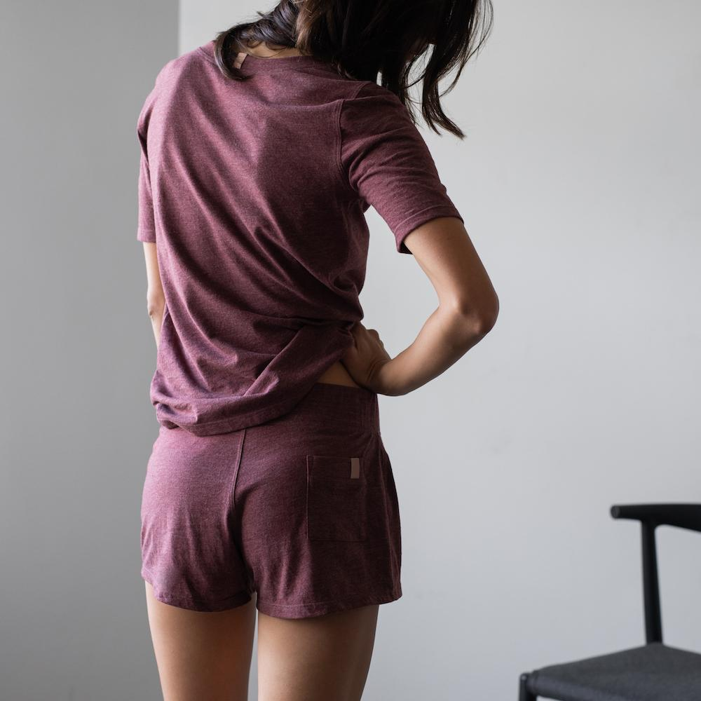 Lunya Sleepwear Restore Pima Short - #Port