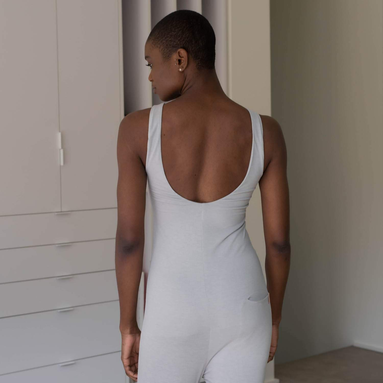 Lunya Sleepwear Restore Pocket Jumpsuit - #Moonstone