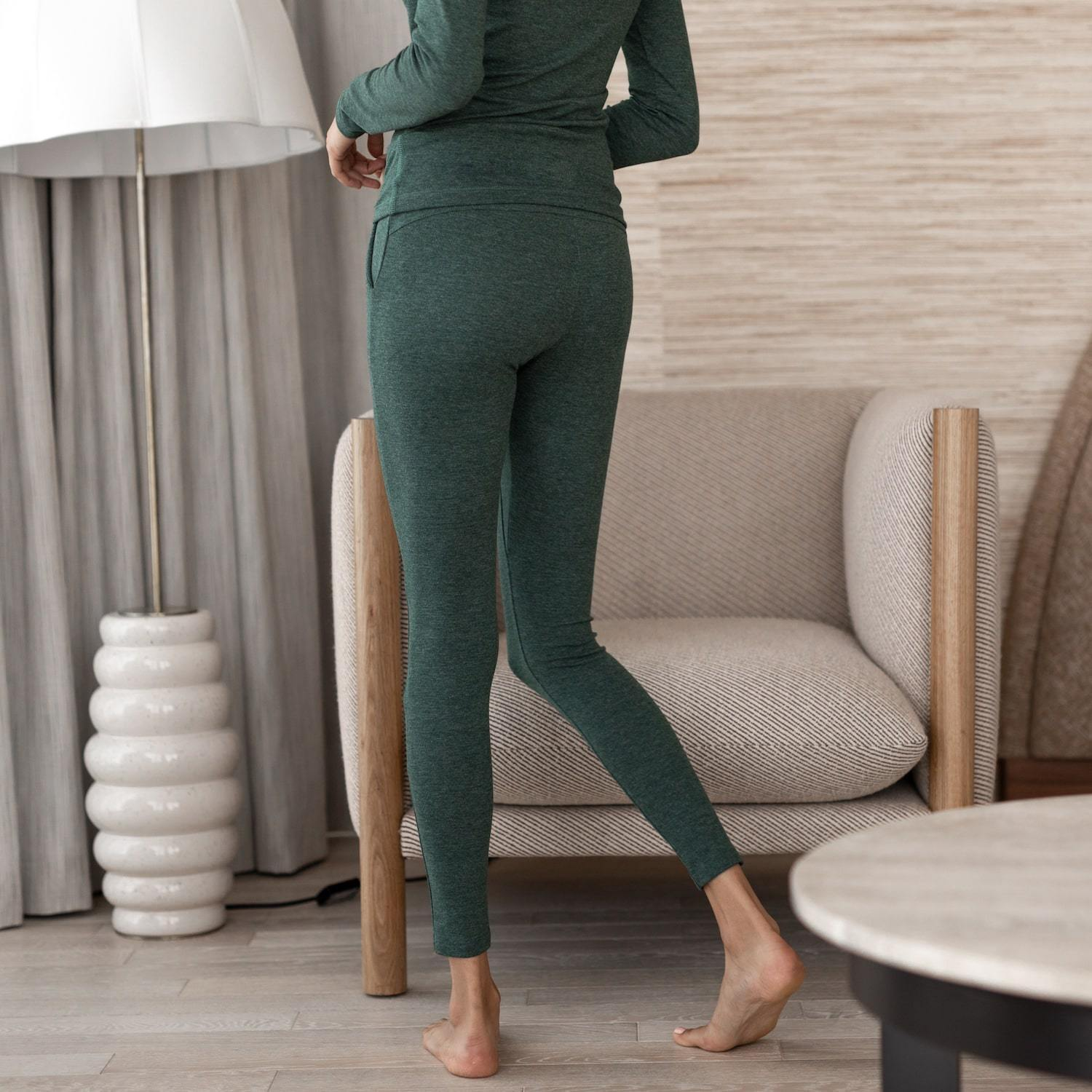 Lunya Sleepwear Restore Pima Pocket Legging - #Emerald