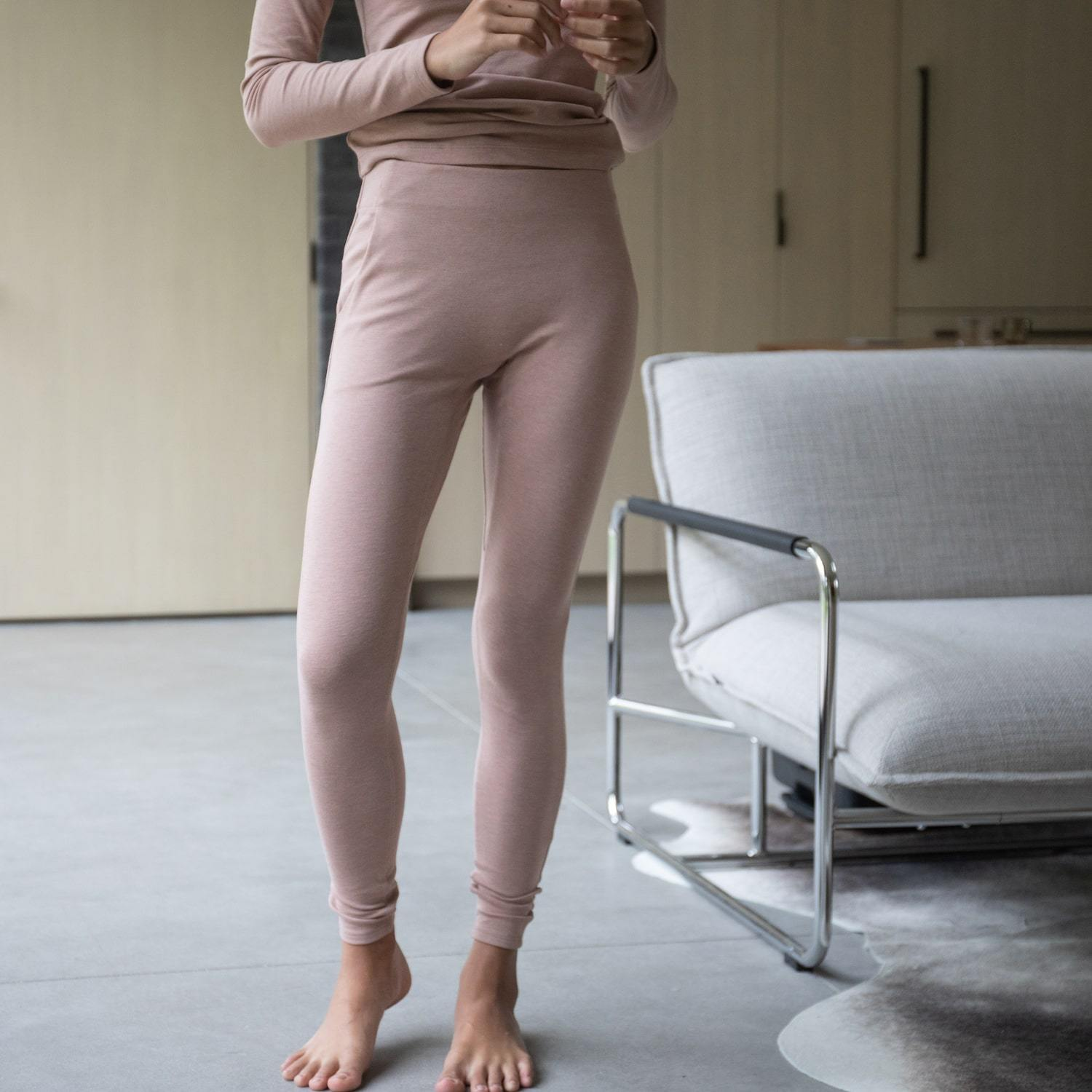 Lunya Sleepwear Restore Pima Pocket Legging - #Bare