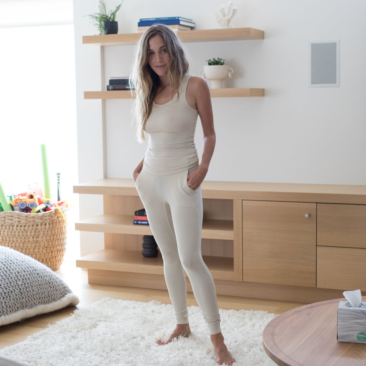 Lunya Sleepwear Restore Pocket Legging - #Latte