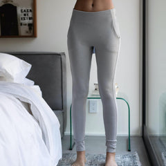 Lunya Sleepwear Restore Pima Pocket Legging - #Ambient Grey Heather