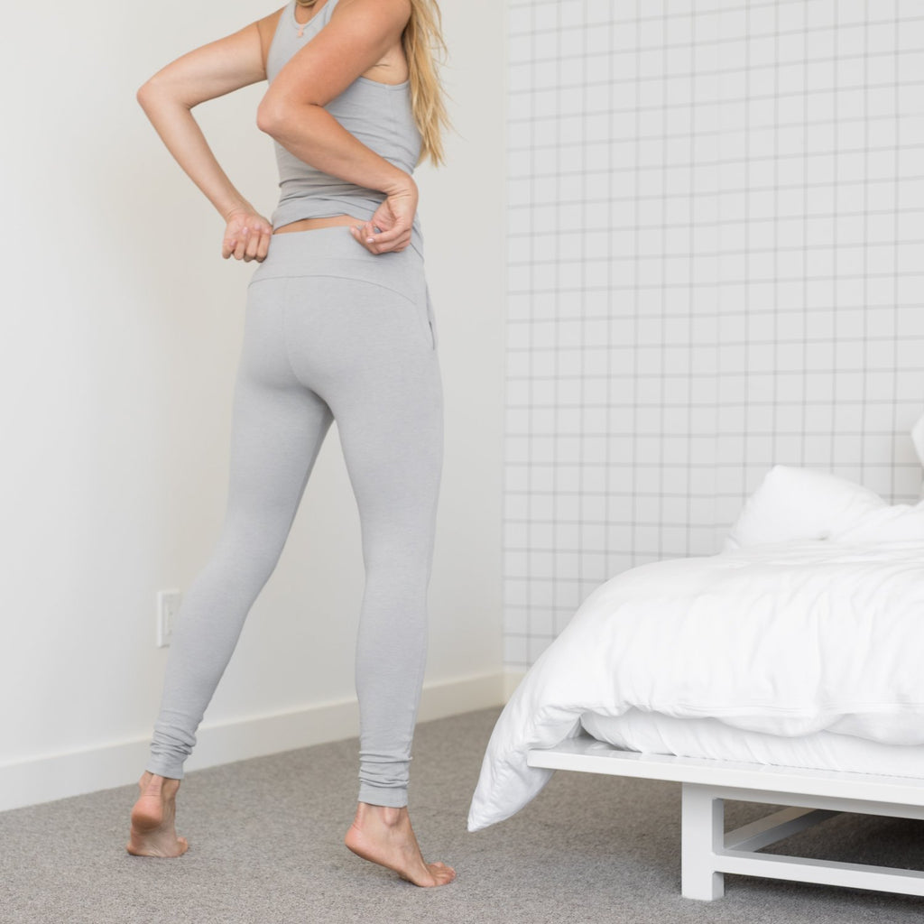 Lunya Sleepwear Restore Pima Pocket Legging - #Moonstone