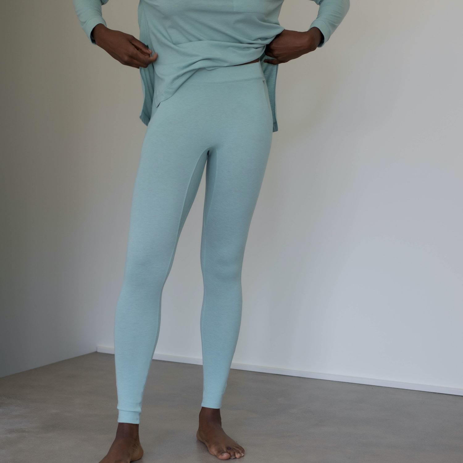 Lunya Sleepwear Restore Pima Pocket Legging - #Aloe