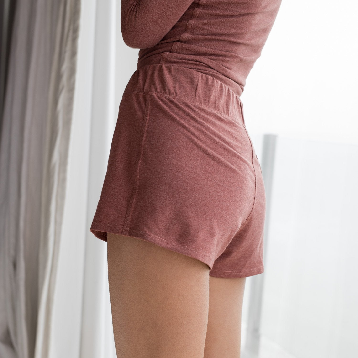 Lunya Sleepwear Restore Short - #Drift