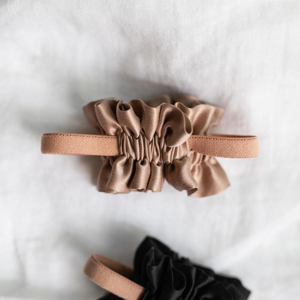 Lunya Sleepwear Washable Silk Scrunchie - #Bare/Bare