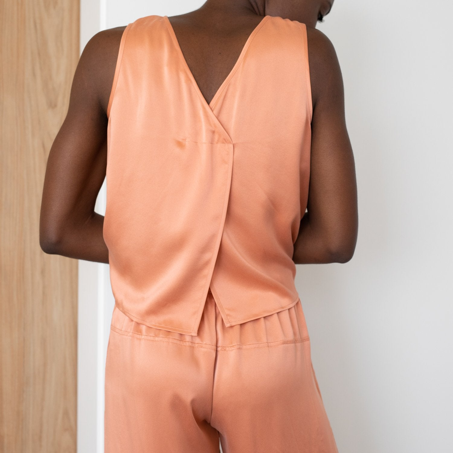 Lunya Sleepwear Washable Silk Pant Set - #Sunset