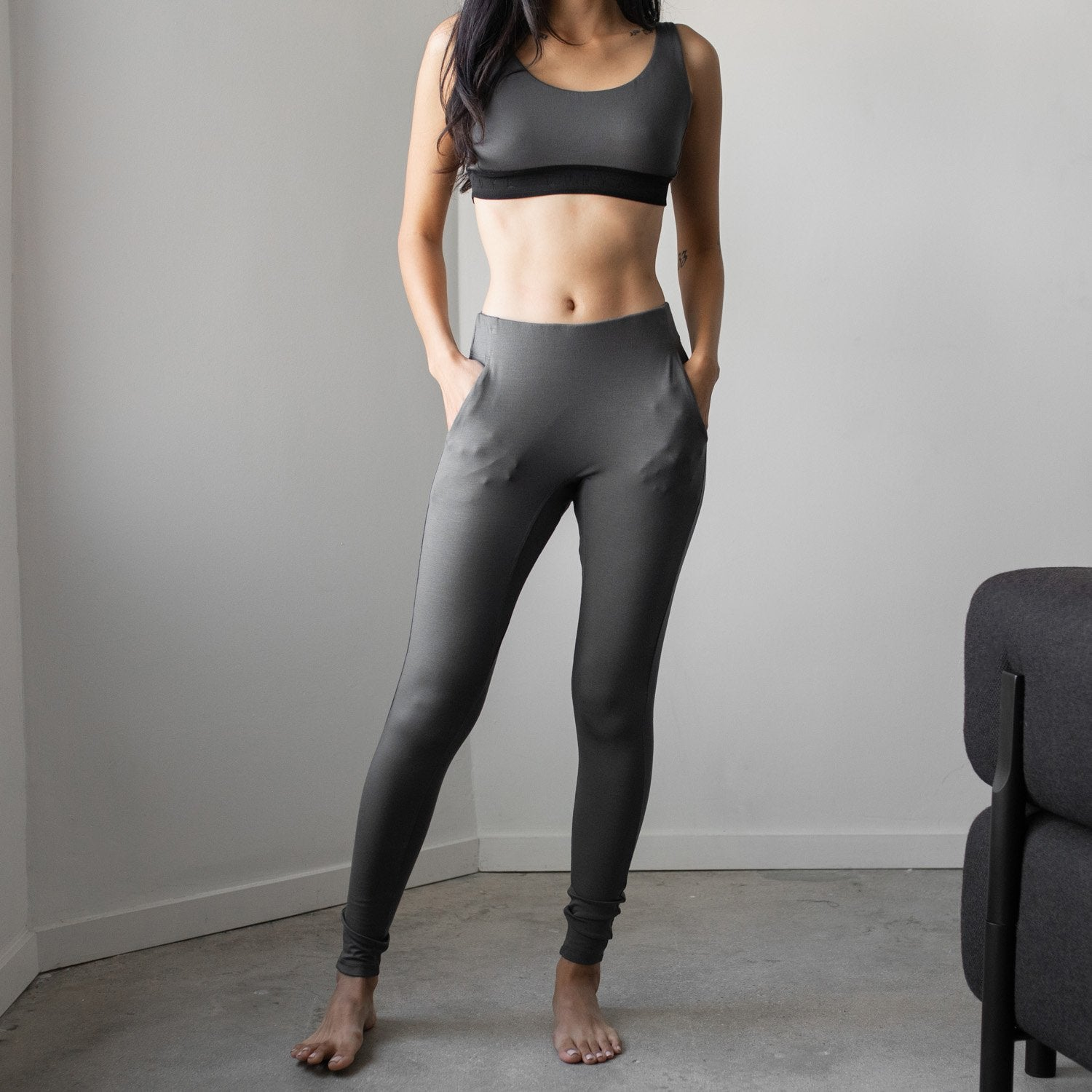 Lunya Sleepwear Siro Pocket Legging - #Eclipse