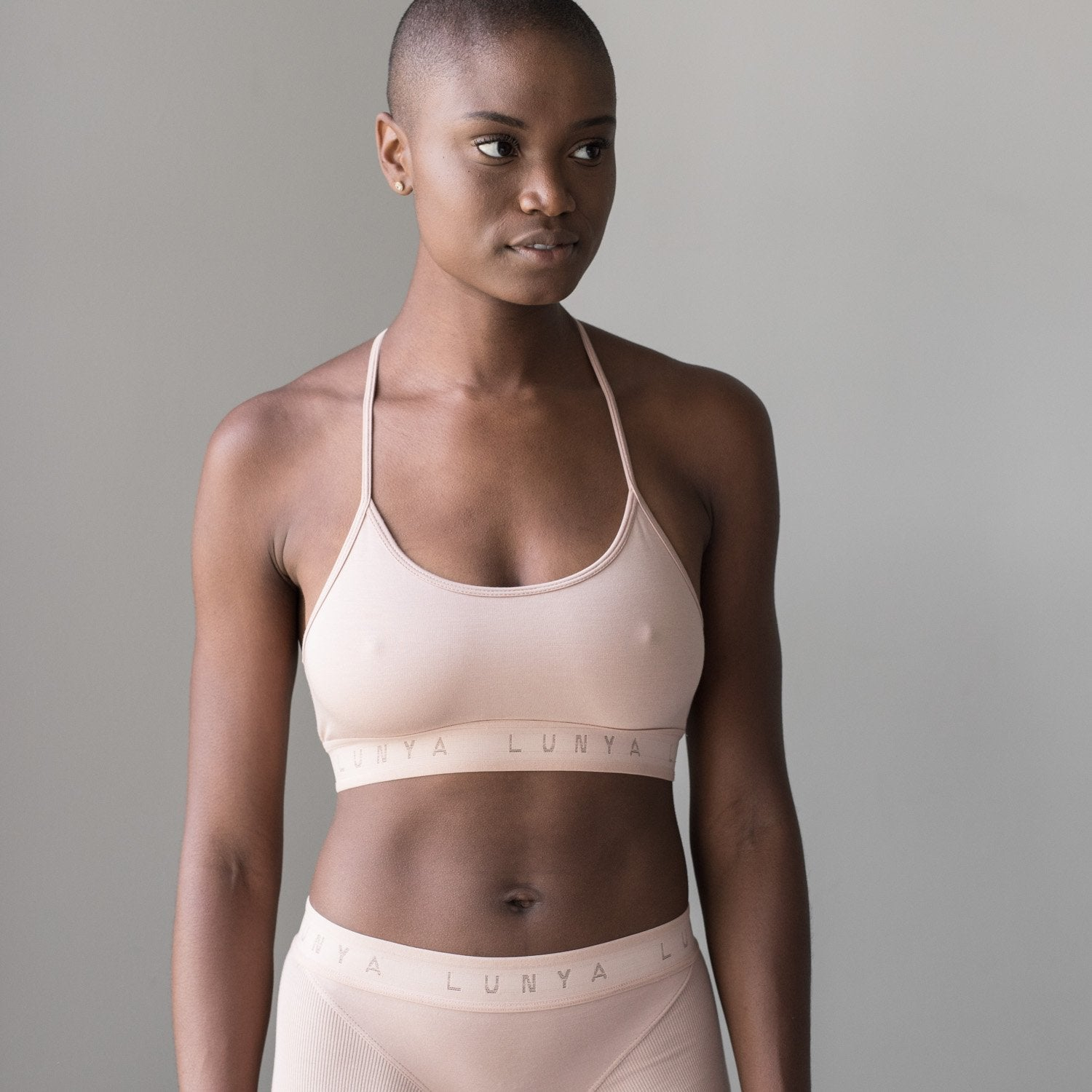 Lunya Sleepwear Supportive Modal Sleep Bralette - #Bare/Bare