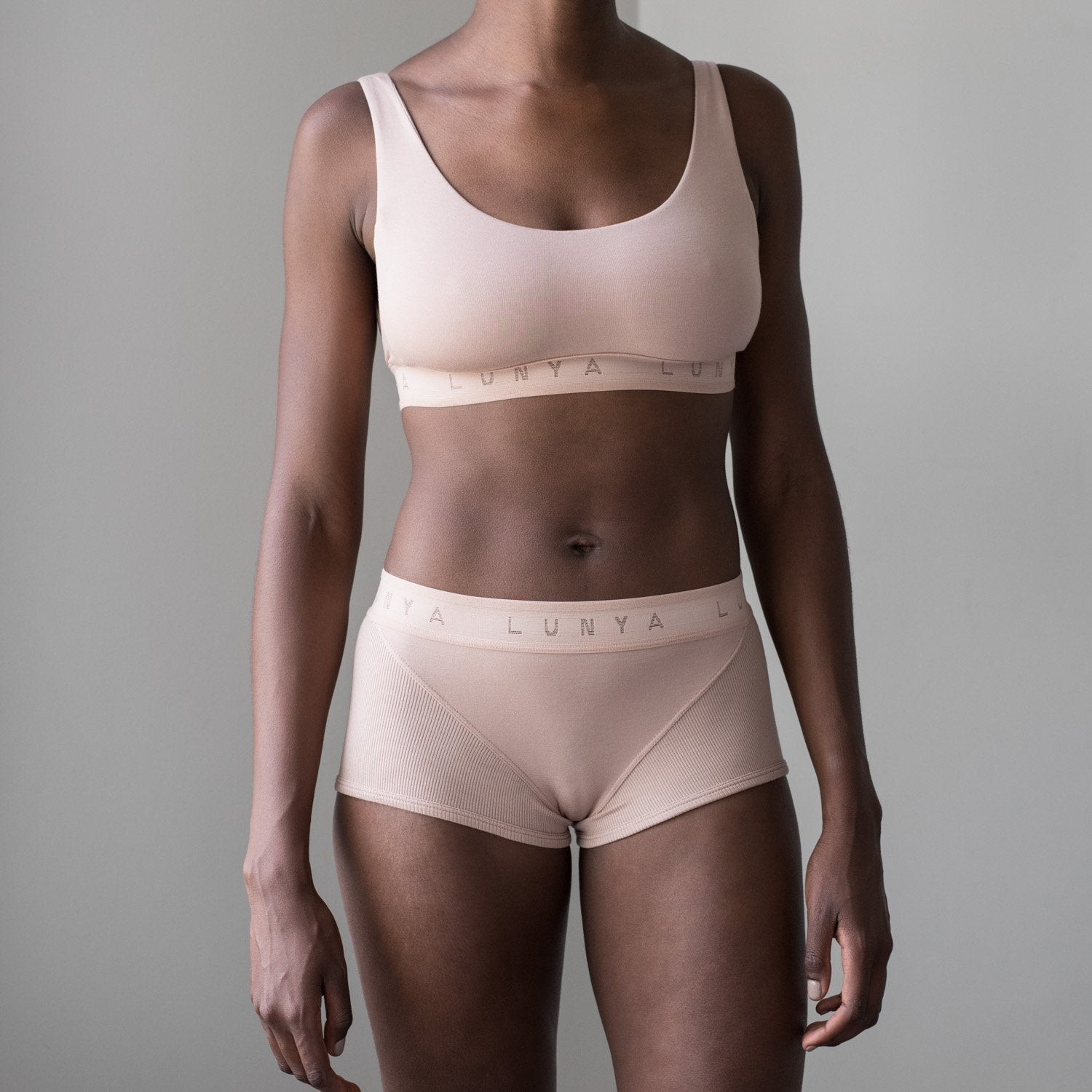 Lunya Sleepwear Supportive Modal Sleep Brief - #Otium Tan