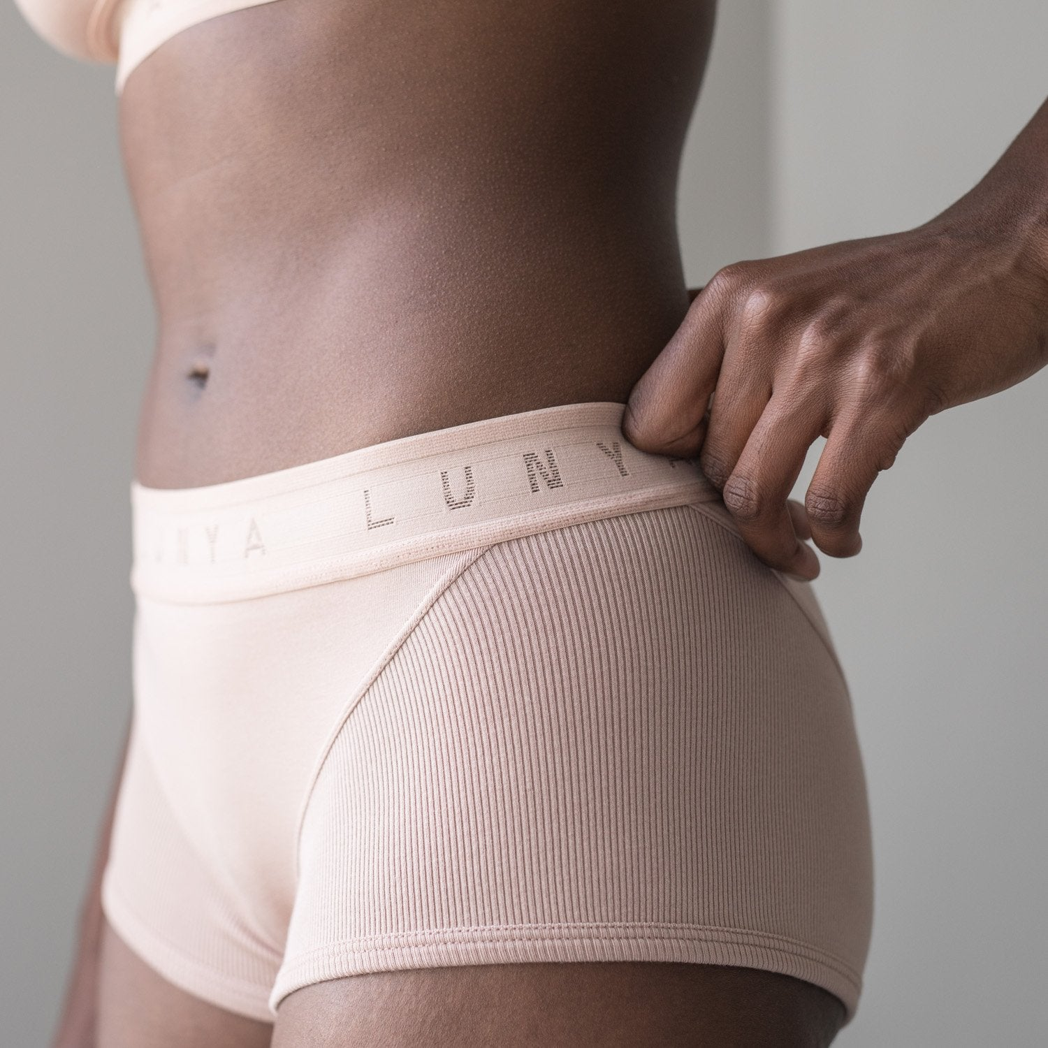 Lunya Sleepwear Supportive Modal Sleep Brief - #Bare/Bare
