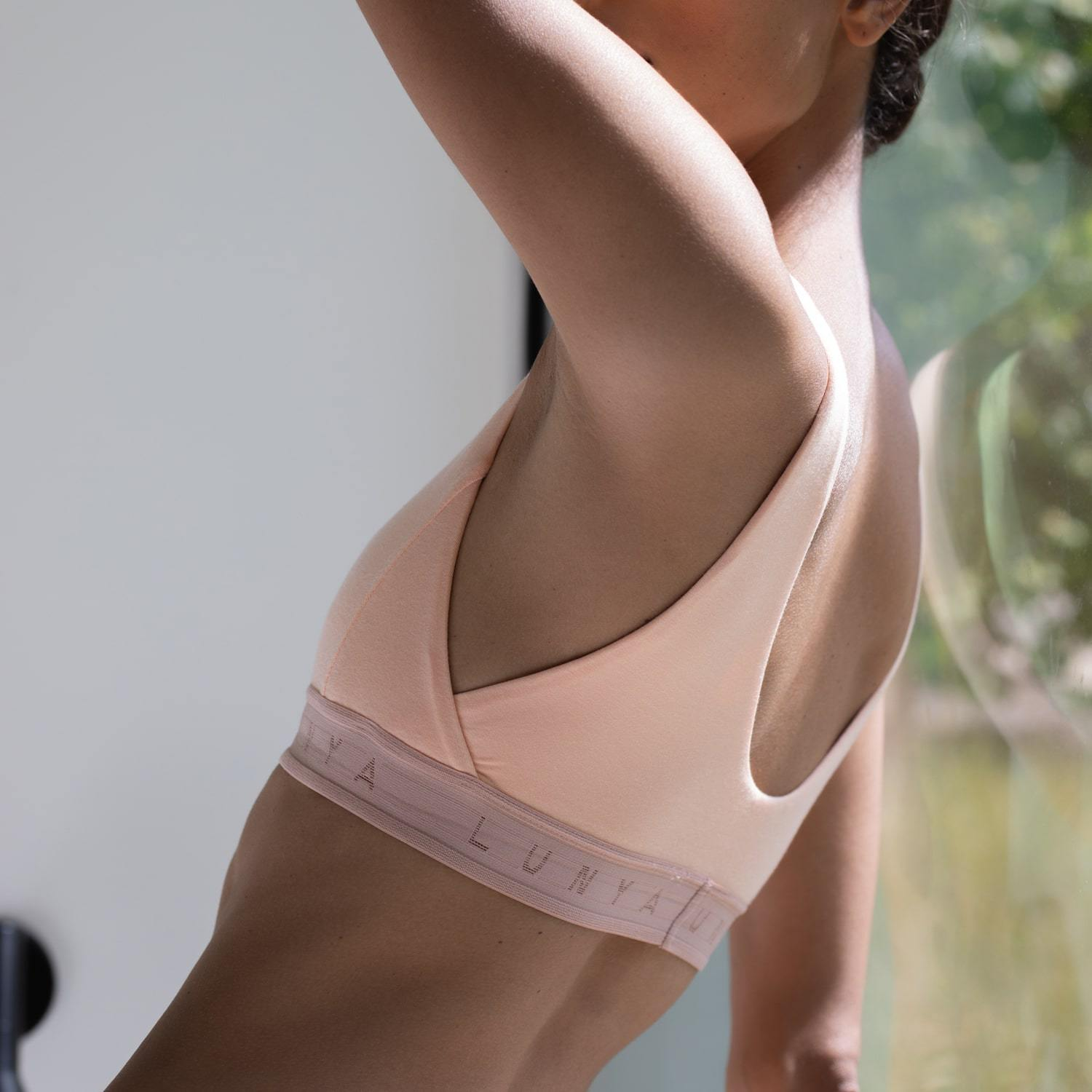 Lunya Sleepwear Supportive Modal Well Rounded Bralette - #Nectar/Bare