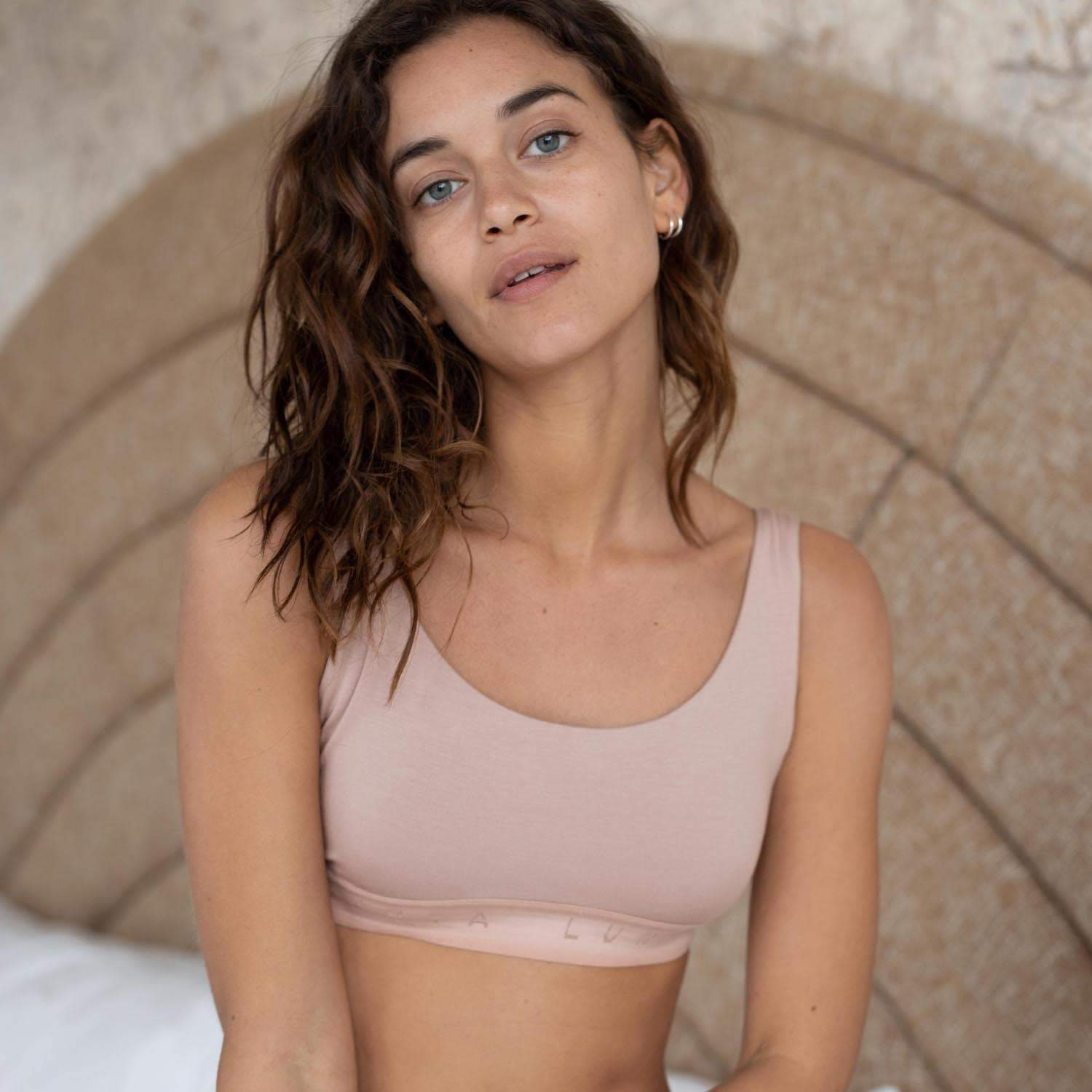 Lunya Sleepwear Supportive Modal Well Rounded Bralette - #Bare/Bare