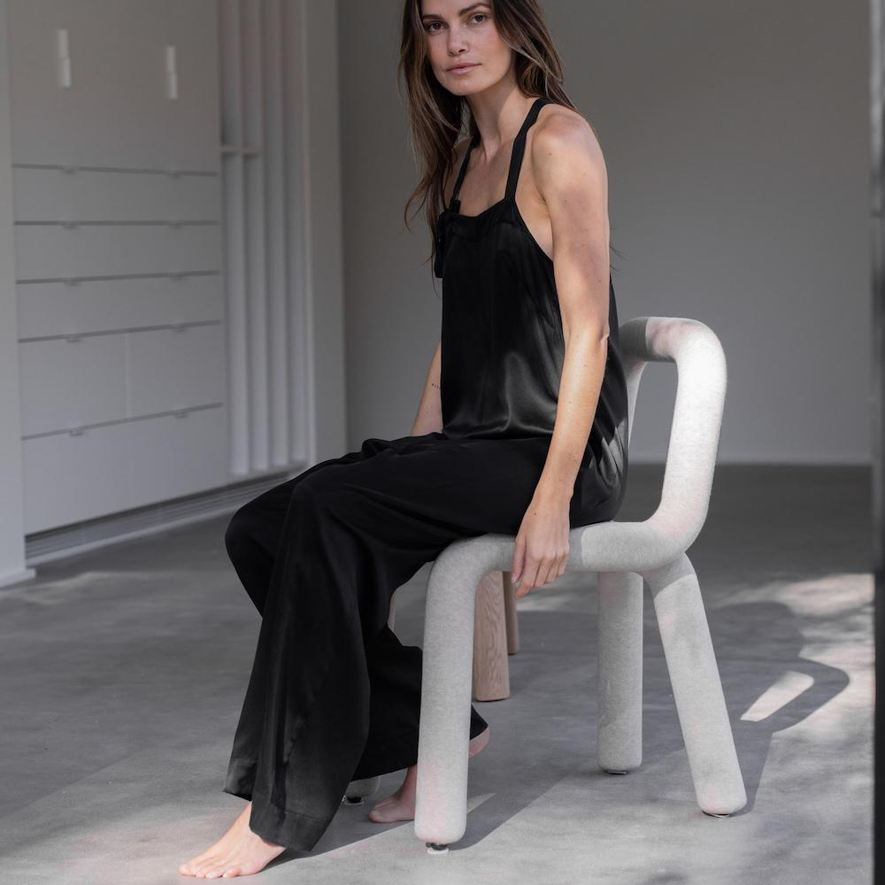 Lunya Sleepwear Washable Silk Jumpsuit- #Washed Black