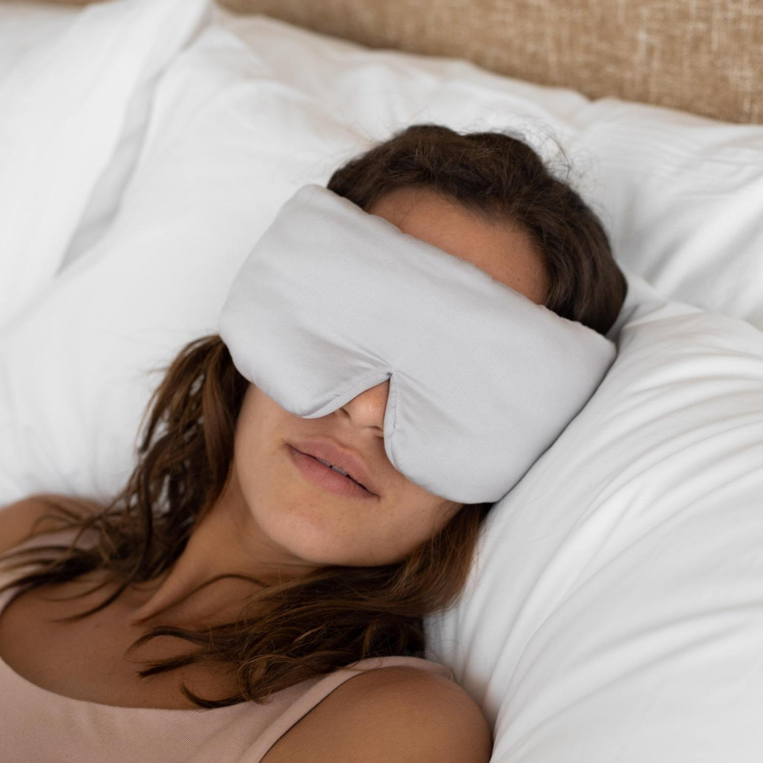 Lunya Sleepwear Washable Silk Sleep Mask - #Cloud